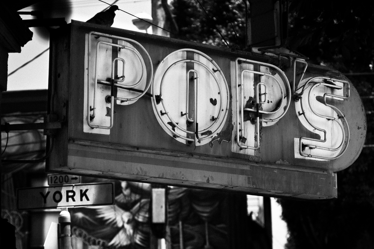 Pop's and York Street in the Mission District in San Francisco