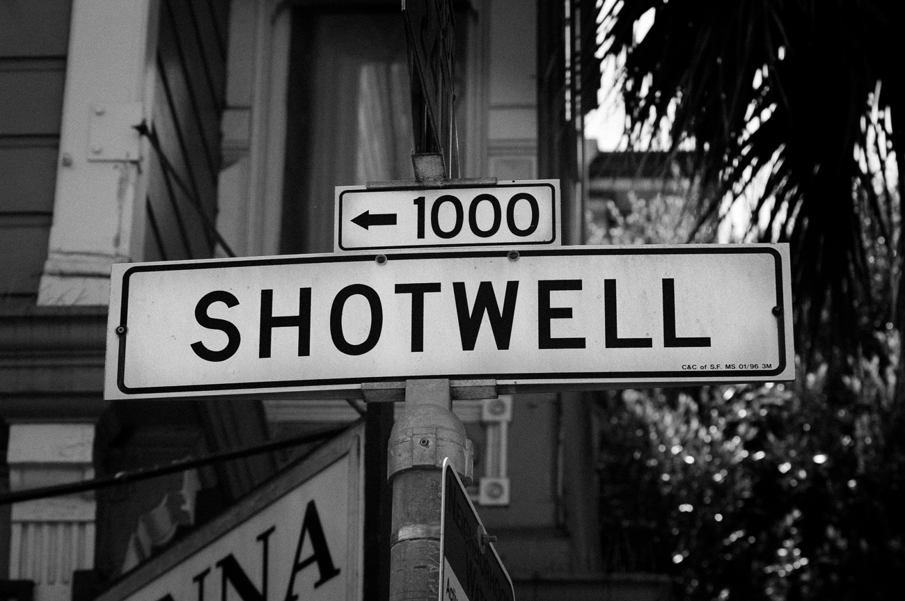 1000 Shotwell street sign in the Mission District of San Francisco
