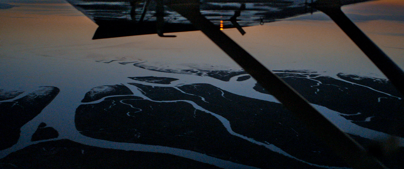 Frame grab of a magic hour Aerial from the feature film Harmonia