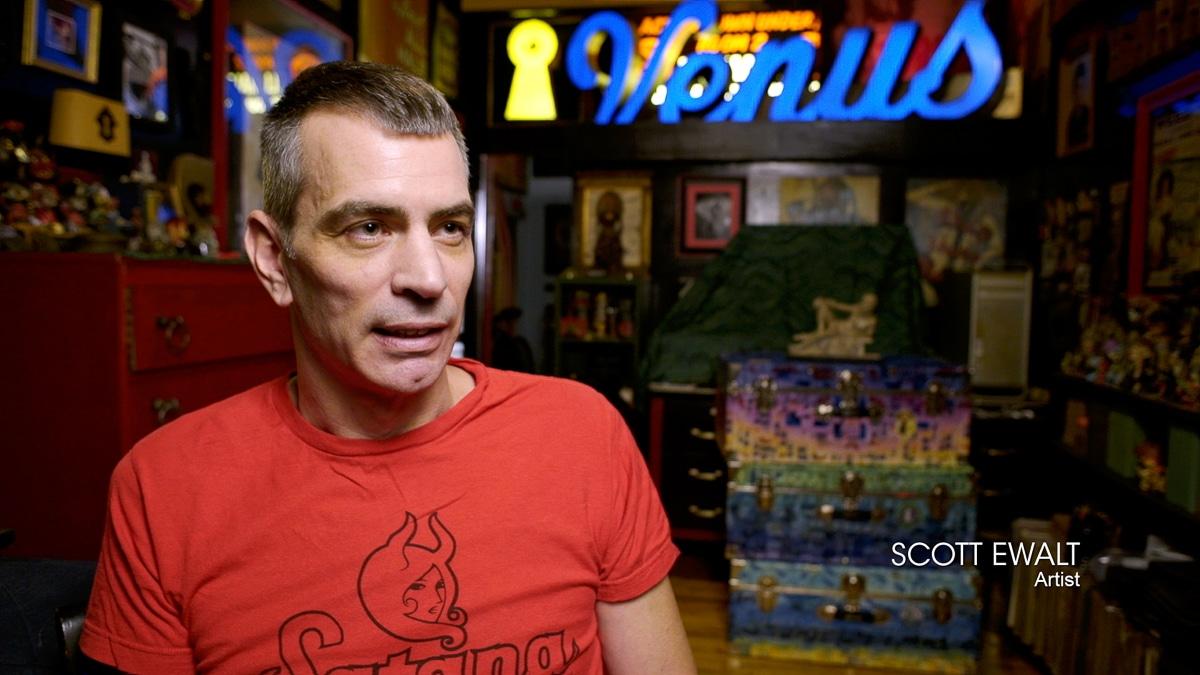 Scott Ewalt in the documentary film Steven Arnold Heavenly Bodies