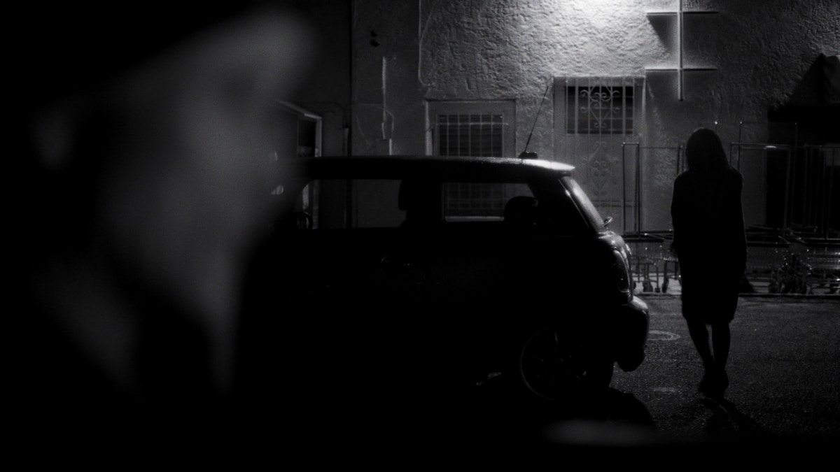 Frame Grab from Tumble a short black and white film
